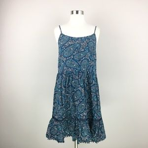 Old Navy Blue Paisley Summer Dress Size Small